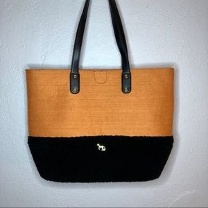 Emma Fox Felt and Black Sherpa Caspian Tote